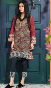 24f74bfb74 Here is latest lawn 2 piece suit by khaadi with beautiful print in black  color. This dress includes Printed Lawn Shirt of 1.25m, Printed Fabric  2.0m, ...